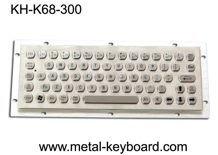 Dustproof Metal Computer Keyboard , Stainless Steel Keyboard 68 Key Buttons