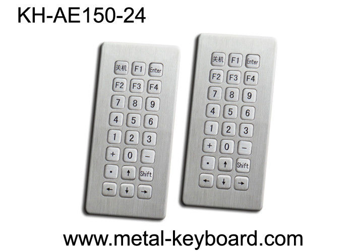 Top panel mounting 24 Keys Stainless Steel Keyboard Industrial Waterproof