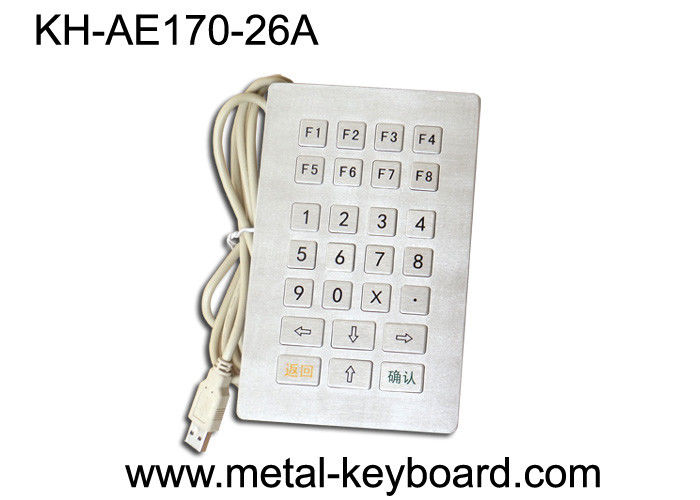 Water proof USB Industrial Metal Keypad with customized 26 Keys layout