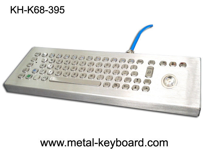 Stand Alone Vandal Proof Keyboard 70 Metal Computer Keyboard Layout And Trackball Mouse
