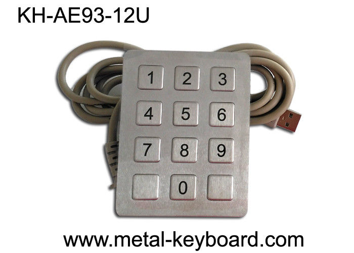 CE / ROHS / FCC USB Interface 12 Keys SS Keypad for Self-Service Machine /  Kiosk , Anti-vanal