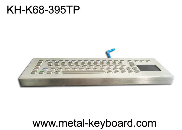 70 Keys Rugged Metal Stainless Steel Keyboard With Stand Alone Design For Industrial Control Platform