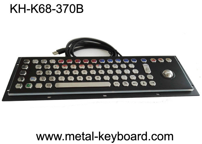 PC Industrial Computer Keyboard , Black Metal Keyboard Stainless Steel Panel